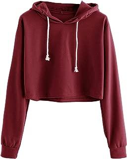 cropped red sweatshirt