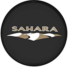 Moonet Spare Tire Wheel Cover Car Truck SUV Camper Fits for Jeep Wrangler Sahara R15 M (Diameter 28inch-30inch)