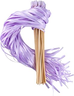 lavender wands with ribbon