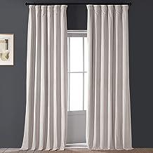 HPD Half Price Drapes VPCH-120601-96 Signature Blackout Velvet Curtain (1 Panel), 50 X 96, Alabaster Beige