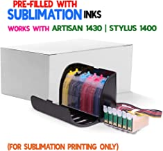 INKUTEN True-Color Dye Sublimation Ink CISS for 79#79 T079 Cartridge Artisan 1430, Stylus Photo 1400 Continuous Ink System