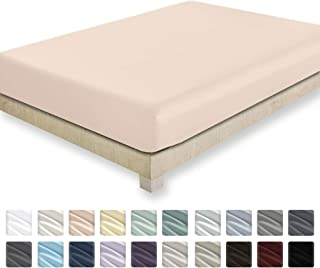 California Design Den 400 Thread Count 100% Cotton 1 Fitted Sheet, Long - Staple Combed Pure Natural Cotton Sheet, Soft & Silky Sateen Weave (Queen, Blush)