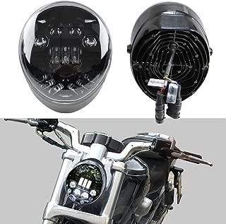 SKTYANTS LED Headlights V-Rod Motorcycle Accessories LED Headlight for Harley VRSCA V-Rod VRod Led Headlight (Black)