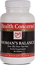 Health Concerns - Woman's Balance - Dan Zhi Xiao Yao San - Supports PMS Relief, Ease of Cramps, Bloating Reduction and Mood Stabilization - 90 Tablets