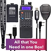 Extra Pack Mirkit BaofengRadio UV-5R MK5 8 Watt MP Max Power with 3800 mAh, Handheld Speaker Mic, Baofeng Programming Cable and Software - Extended Kit