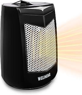 WELIKERA Calefactor Eléctrico -Calefactor Cerámico -Portáti, de Cerámica Personal de Aire Caliente con Oscilación Automáti...