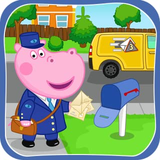 Post office game: Professions Postman