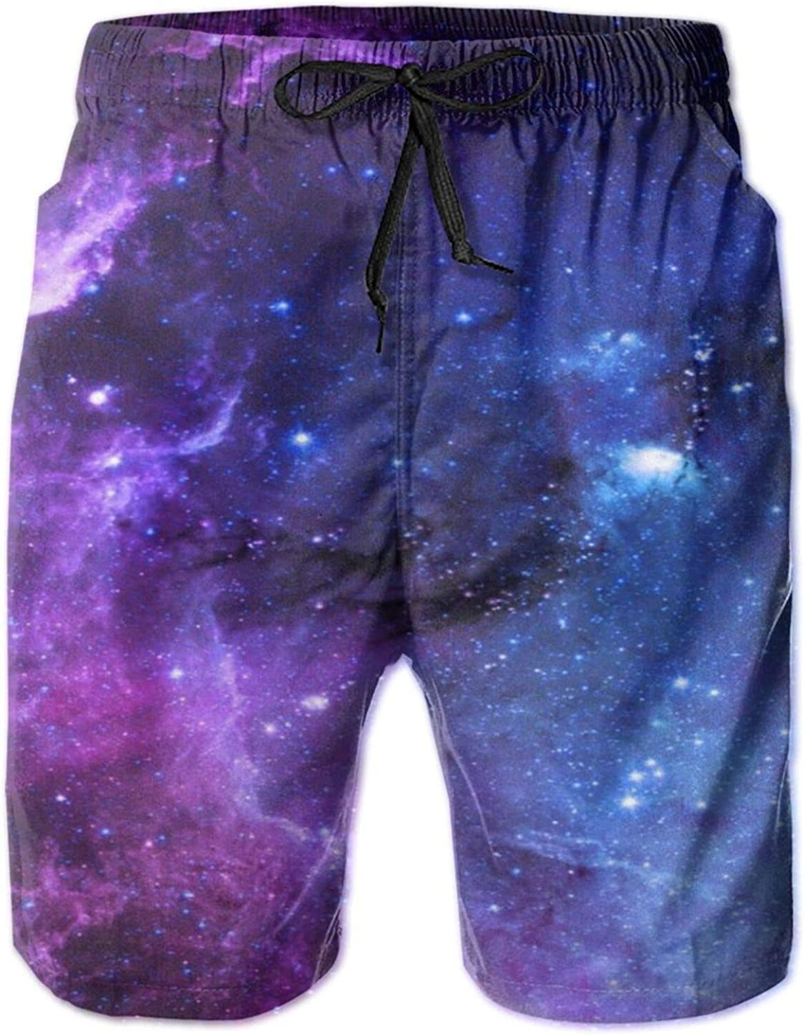 Yt92Pl@00 Mens 100% Polyester Space Star Ba Trunks outlet Fashion Swim New sales
