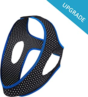 Anti Snoring Chin Strap for CPAP Users - [2019 Upgrade] Stop Snoring Solution for Men and Women ,Comfortable Devices, Breathable, Flexible  Easily Adjustable Sleep Chin Straps
