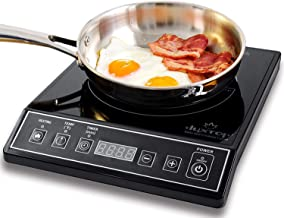 Duxtop 1800W Portable Induction Cooktop Countertop Burner, Black