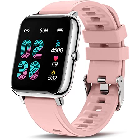 Canmixs Smart Watch for Android Phones iOS Compatible with iPhone Samsung, Fitness Tracker with Heart Rate Blood Oxygen Sleep Monitor Full Touch IP67 Waterproof Sports Digital Watches for Women Men