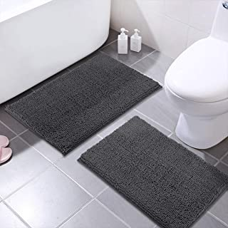 MAYSHINE Chenille Bathroom Rugs Extra Soft and Absorbent Shaggy Bath Mats Machine Wash/Dry, Perfect Plush Carpet Mat for K...