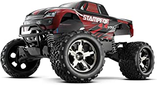 Traxxas 67086-4 Stampede 4X4 1/10 Monster Truck with TQi 2.4GHz Radio/TSM, Red