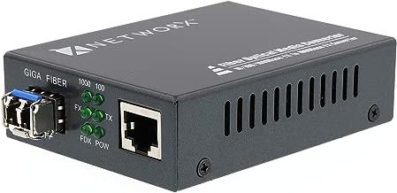 Networx Gigabit Ethernet Fiber Media Converter - 1000 Mbps to 1000Base-LX - LC Multimode, 5...