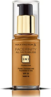 Max Factor FaceFinity All Day Flawless 3 In 1 Foundation , Tawny 95