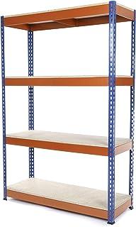 Racking Solutions - Estantería / Estante del garaje/ Sistema de almacenamiento de acero, cargas pesadas, capacidad de carga total 1600kg (4 niveles 1800mm Al x 900mm An x 600mm Pr) + Envío gratis