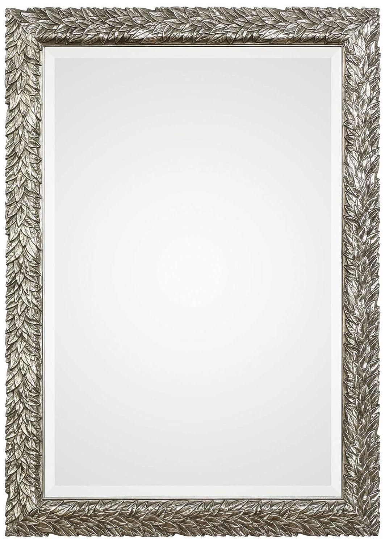 Uttermost safety Evelina Silver Leaves Mirror 24.625x34.625x1 Finally resale start -