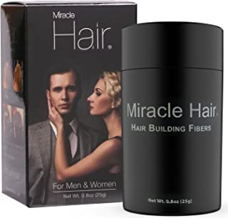 Miracle Hair: Hair Loss Concealer – Highest Quality Natural Hair Building Fibers Thickens Thinning Hair Instantly for Men And Women 25 Grams (75 Day Supply)