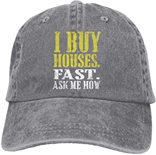Arsmt I Wanna Buy A House Denim Hat Adjustable Female Casual Baseball Cap