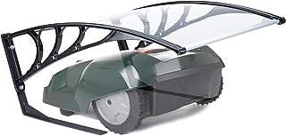 Relaxdays Garaje para Robot cortacésped, Protección Solar, Cubierta, Policarbonato, 47x82x102 cm, 1 Ud., Transparente