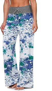 TNNZEET Women's Comfy Pajama Pants - Drawstring Casual Lounge Pants Wide Leg