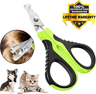 VICTHY Pet Nail Clippers for Small Animals, Dog/Cat Nail Clippers Claw Toenail Trimmer, Professional Home Grooming Tool fo...
