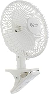 Comfort Zone CZ6C 6-inch Quiet Portable Indoor 2-Speed Desk Fan with Clip and Fully..