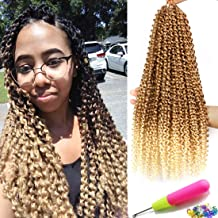 Passion Twist Hair 18 Inch 6 Packs/Lot Water Wave Crochet for Passion Twists Long Bohemian Hair Braiding Ombre Passion Twist Crochet Hair Braids Synthetic Hair Extensions (T27/613#)