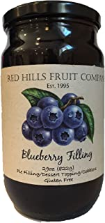 Red Hills Fruit Company Pie Filling, Blueberry, 29 Ounce (Pack of 4)