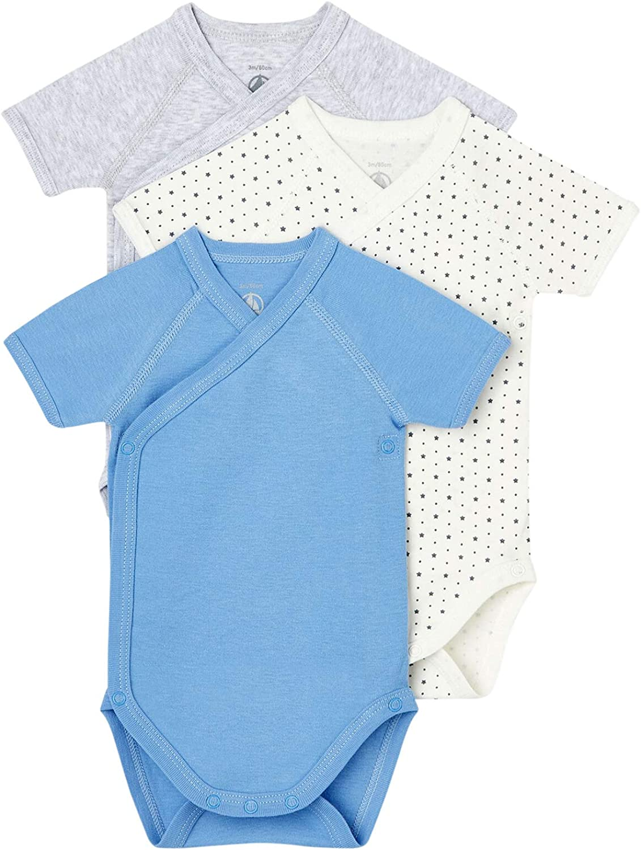 Petit Bateau Baby service Boy Max 87% OFF 3 Pack Cotton Short Crossov Sleeve Organic