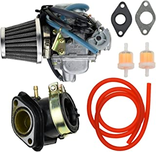 24mm Carburetor Carb 42mm Air Filter Intake Manifold Gasket Fuel line Filter for GY6 Yerfdog Spiderbox GX150 Manco Hammerhead GTS Twister Tomerlin Crossfire 150cc Go Kart Roketa Moped Scooter Parts
