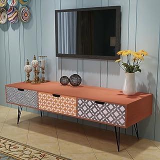 Festnight Mesa de Salón para la Televisión con 3 Cajones 120 x 40 x 36 cm Color Marrón