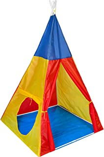 COSMOLINO Tält för barn, Playtent, Barntält för barnrum, Barntält, Tipi-tält för spädbarn, Indisktält, för inomhus och uto...