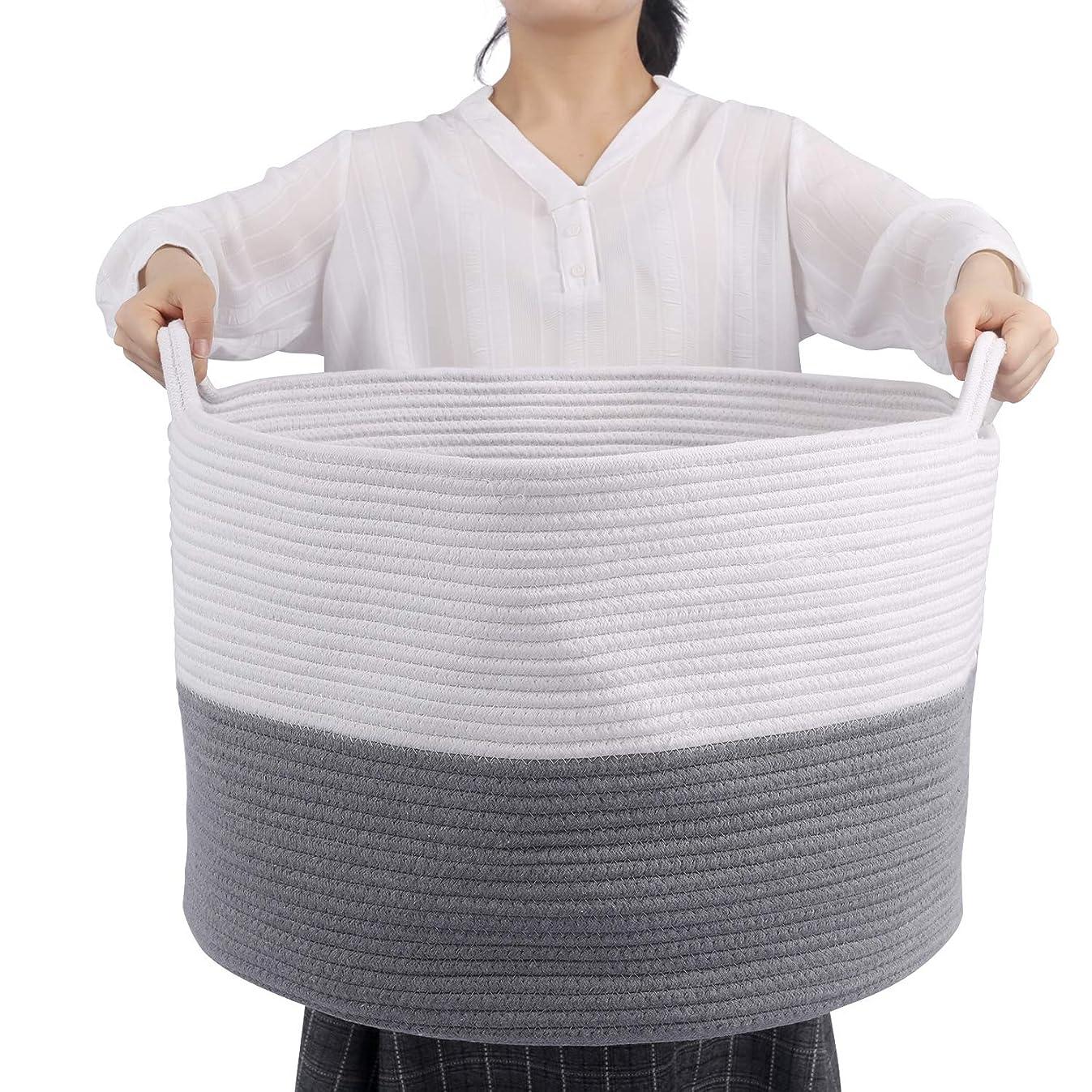 XXXL Extra Large Blanket Basket for Living Room, Toy Basket Large, 22