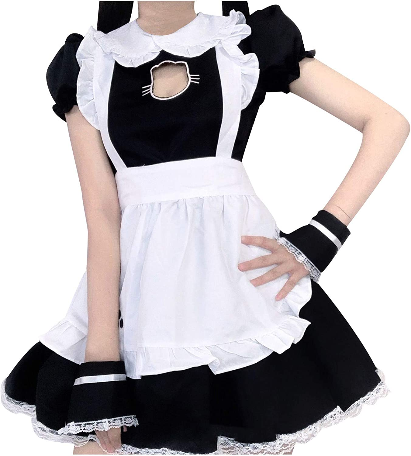 Japanese Anime Sissy Maid 超激安 訳あり商品 Dress Black Lovely Cosplay Outfit