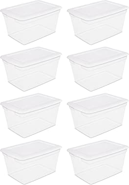 Sterilite 58 Qt Storage Box 8pcs