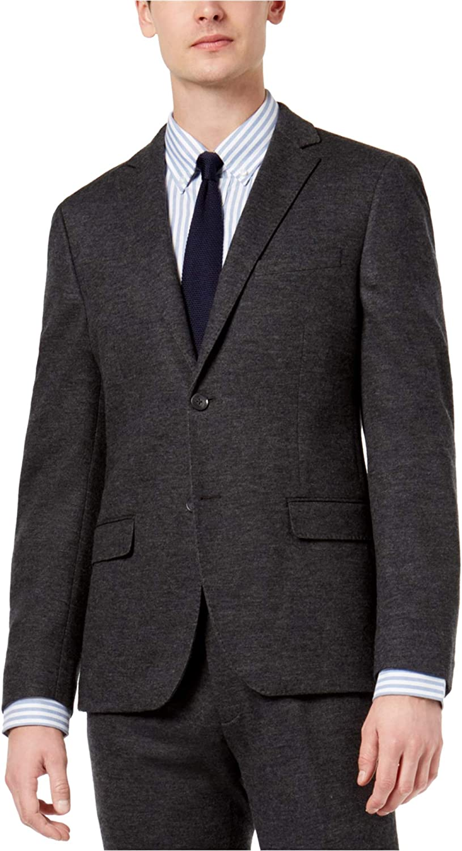 bar III Mens Knit Two Button Blazer Jacket