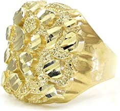 Jawa Jewelers 10K Men Nugget Ring Yellow Gold Size 10