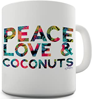 Twisted Envy Peace Love And Coconuts Ceramic Tea Mug