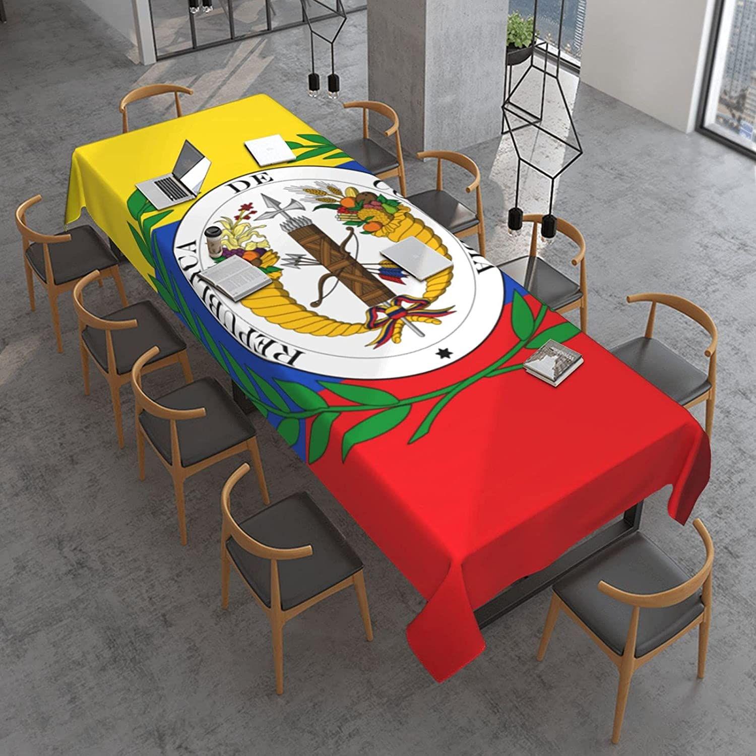 Flag of New life Colombia Rectangle Table Spill Oil Proof Attention brand an Cloth