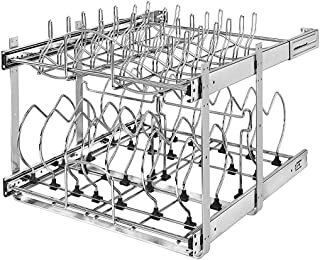 Rev-A-Shelf 5CW2 Series 21 Inch 2 Tier Wire Organizer for Cookware, Chrome