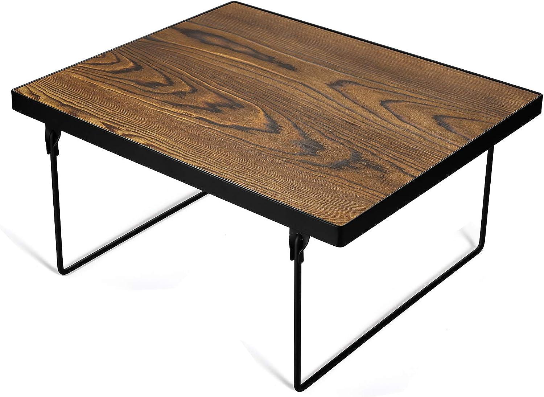 TJ.MOREE Wood Stackable Kitchen Cabinet Shelf Organizer, Cupboard Storage Spice Rack, Pantry Fridge Space Saver