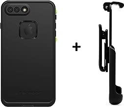 LifeProof FRĒ Series Waterproof Case for iPhone 8 Plus & 7 Plus (ONLY) - Retail Packaging (Black + Gear Pro Belt Clip)