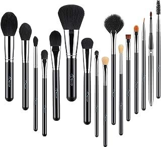 BESTOPE 16 Pcs Makeup Brushes Shiny Holographic Logo Makeup Brush Set Foundation Powder Liquid Cream Concealers Eyeshadows Blush Eyeliner Makeup Blending Brushes Kit Cosmetic Brushes