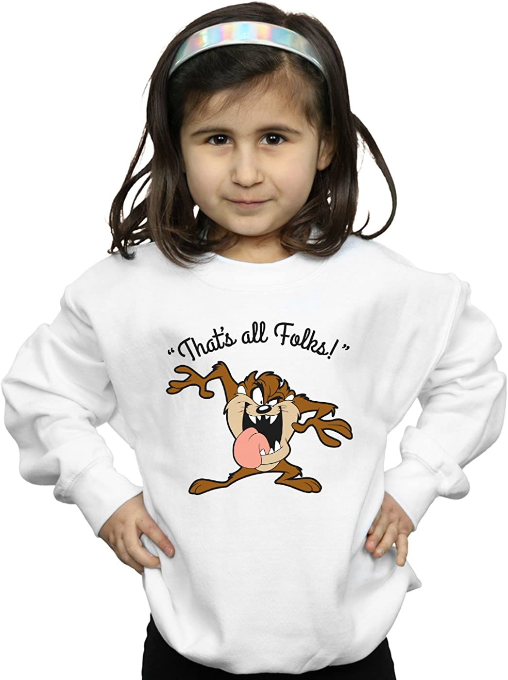 Looney Tunes Girls Taz Thats All Folks Sweatshirt