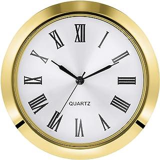 Hicarer 2-1/8 Inch (55 mm) Quartz Clock Fit-up/Insert Fit Diameter 1-7/8 to 2 Inch (48-50 mm) Hole Zinc-Alloy Metal Case R...