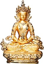 PPCP Longevity/Amitayus 5inch Efficacious Gold Buddha Alloy Metal Buddhist Suppliers Home/Office Decorate Statue Craft