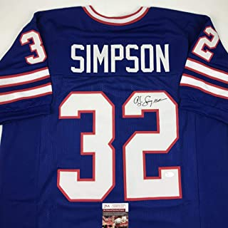 ba7ad9250 Autographed Signed OJ O.J. Simpson Buffalo Blue Football Jersey JSA COA