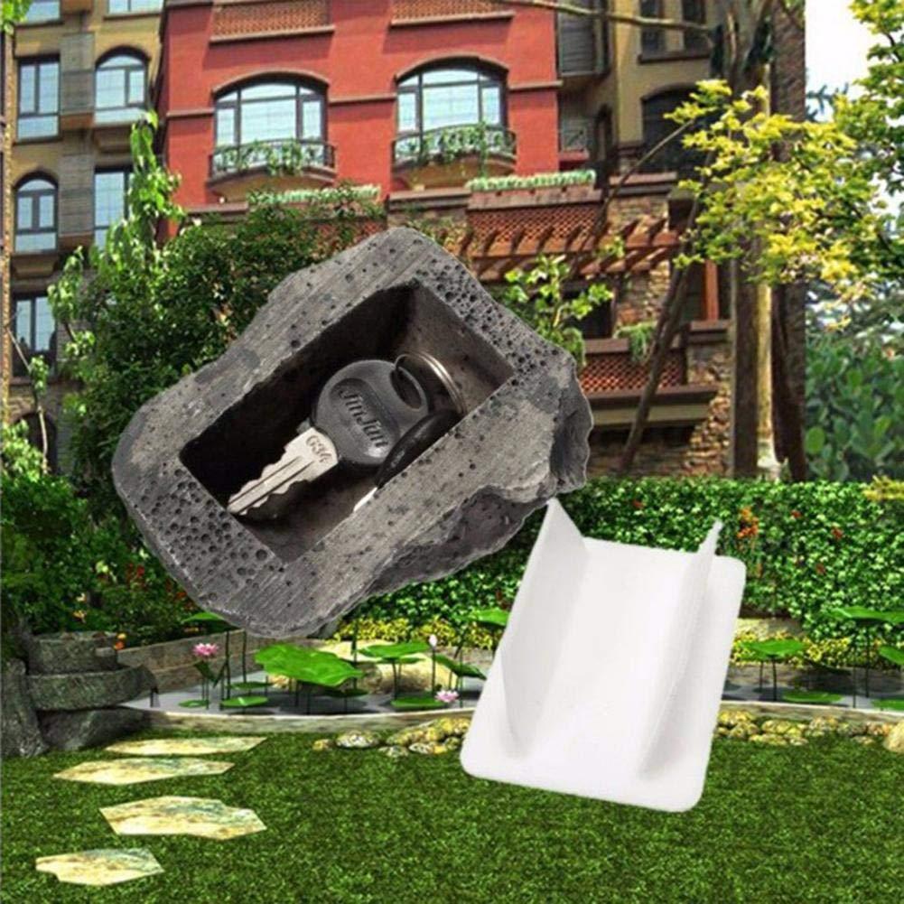 xiangpian183 Key Rock Stone Key Fake Rock para Piedras Decorativas de jardín al Aire Libre (1.18 x 2.36 x 3.15in): Amazon.es: Hogar