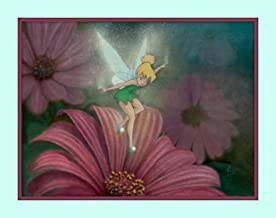 Treasure Chest Shoppe Tinkerbell from Peter Pan Walt Disney Movie Play 11x14 Double Matted Fine Art Print 8x10 Premium Giclee Print Walt Disney Collection Tinker Bell